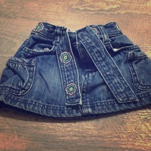 Girls jean skirt